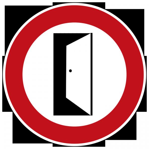 Tür schließen  Schild selbst drucken: Bitte Tür schließen