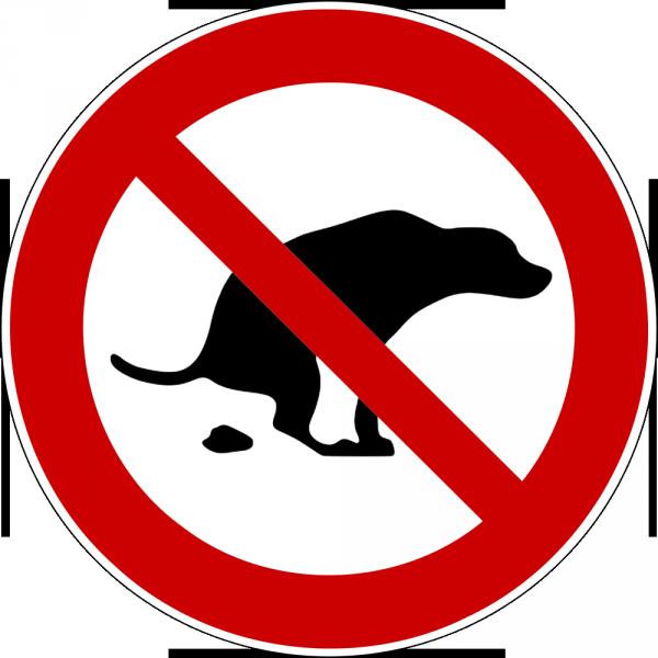 Schild selbst drucken: Hier ist kein Hundeklo
