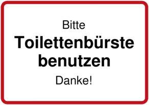 Bitte Toilettenbürste benutzen - Schild downloaden und drucken